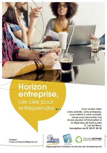 Horizon entreprise les cls pour entreprendre bge 78 for Yvelines actives