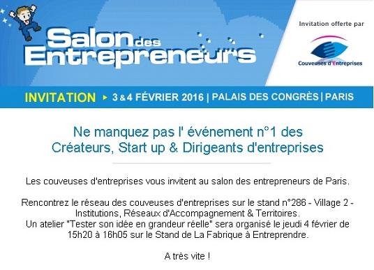 Lactu de la couveuse 78 bge 78 cration entreprise yvelines for Salon des entrepreneurs paris 2016